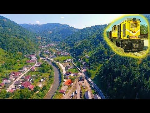 """[2xMC Drone] """"Diesel-ul"""" L45H pornind cu un tren din Vișeul de Sus pe Valea Vaserului, Maramureș"""