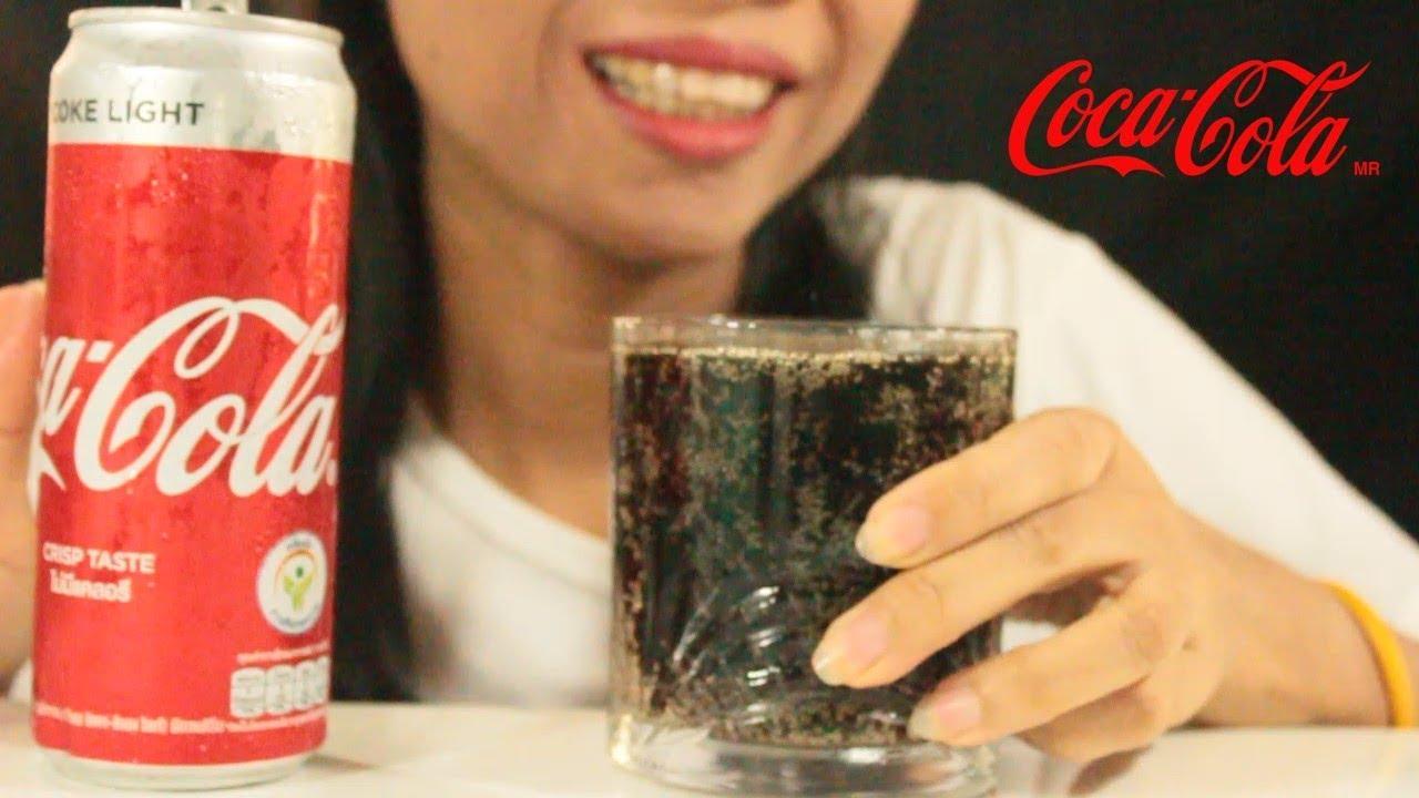 ASMR DRINKING  COCA - COLA CRISP TASTE [COKE LIGHT] ONE SHOT โค้กไลท์ | Drinking Sounds | #DOOSEE