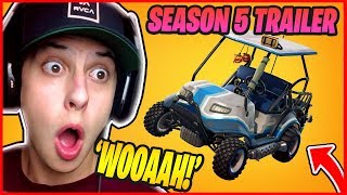 Cizzorz *REACTS* TO SEASON 5 TRAILER + FORTNITE v5.0 Patch Notes HYPE! NEW VECHICLE ATK, MAP UPDATE!