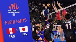 CANADA vs. JAPAN - Highlights Men | Week 4 | Volleyball Nations League 2019