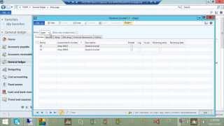 General Journal-Einträge in Microsoft Dynamics AX 2012