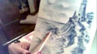 HOW TO DRAW A  LIGHTHOUSE   (REST OF PART 3) with FRNCELLE