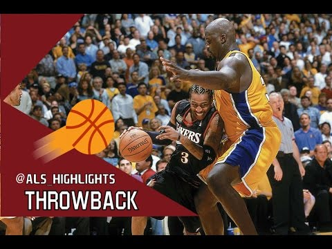 Allen Iverson vs Shaquille O'Neal UNREAL Duel 2001 Finals G1 - SHA'Q with 44 Pts, A.I With 48 Pts!
