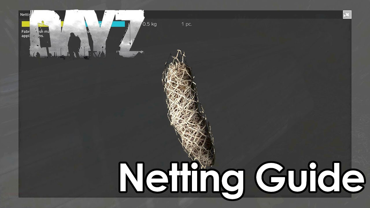 how to dayz 0 60 netting tutorial guide netting for ghilie suit