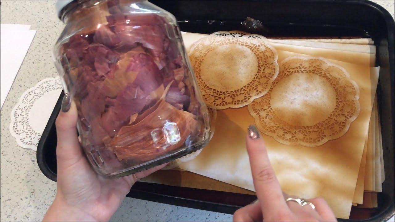 DIY Tea Dyed Paper - Several Methods