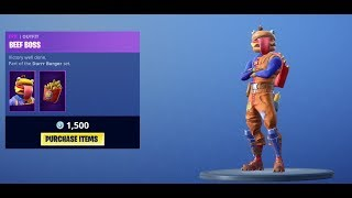 *NEW* BEEF BOSS SKIN (DURRR BURGER) - Fortnite Battle Royale