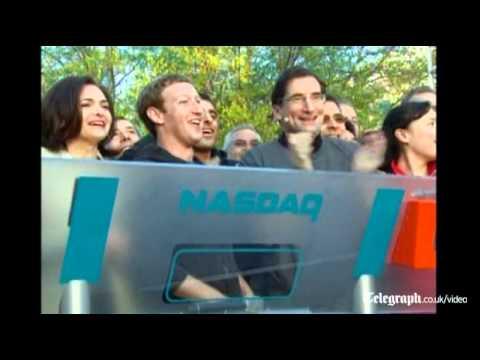 Mark Zuckerberg rings the NASDAQ bell before Facebook IPO