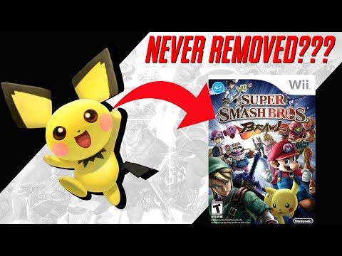 Pichu was never CUT from Super Smash Bros..?