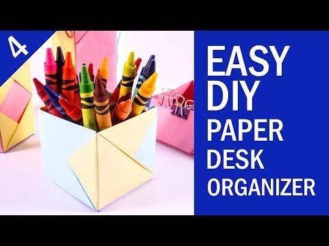 EASY DIY PAPER DESK ORGANIZER TUTORIAL | Back to School Project | Part 4