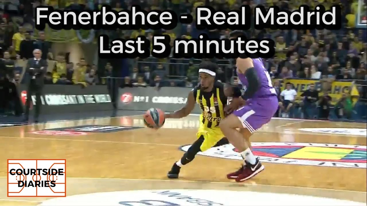Fenerbahce - Real Madrid 78-77 - LAST 5 MINUTES [01/12/2016, EuroLeague RS10]