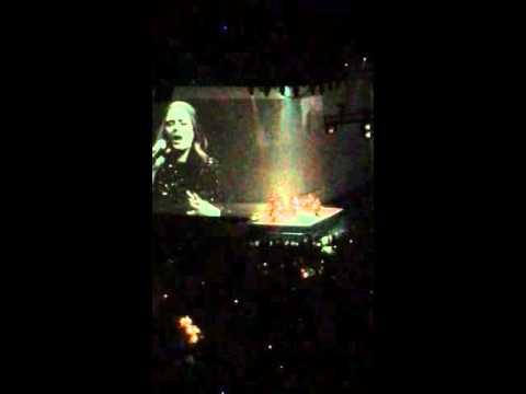 Adele When Will I See You Again - O2 live - 04/04/16