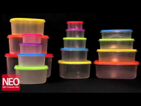 Neo Products  Fiesta Plastic Food Storage Set - BPA Free