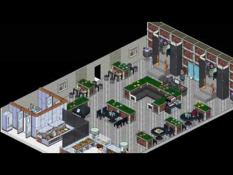 How to BUILD a Habbo Restaurant (Diner) | aka VIDEOS