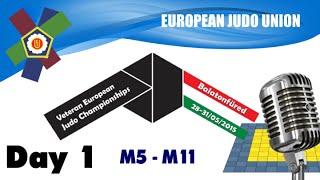 Veteran European Judo Championships 2015: Day 1