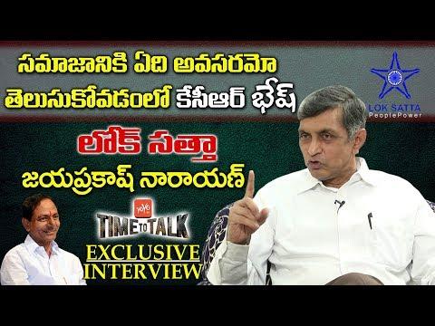 Loksatta Party Founder Jayaprakash Narayan Exclusive Interview | Time To Talk | YOYO TV Channel