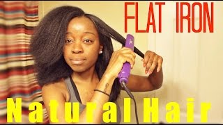 Flat Iron On NATURAL HAIR