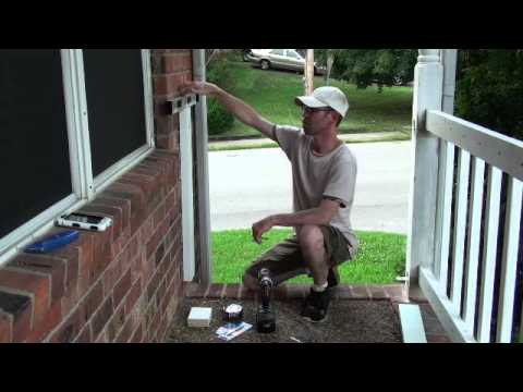 Railing Project Attaching Wood To Brick Video 19 Of 25