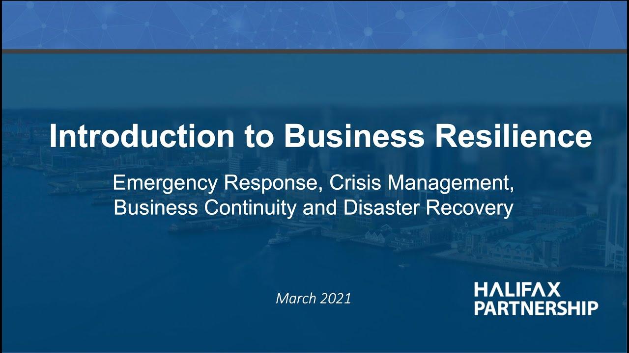 Business Resilience Basics