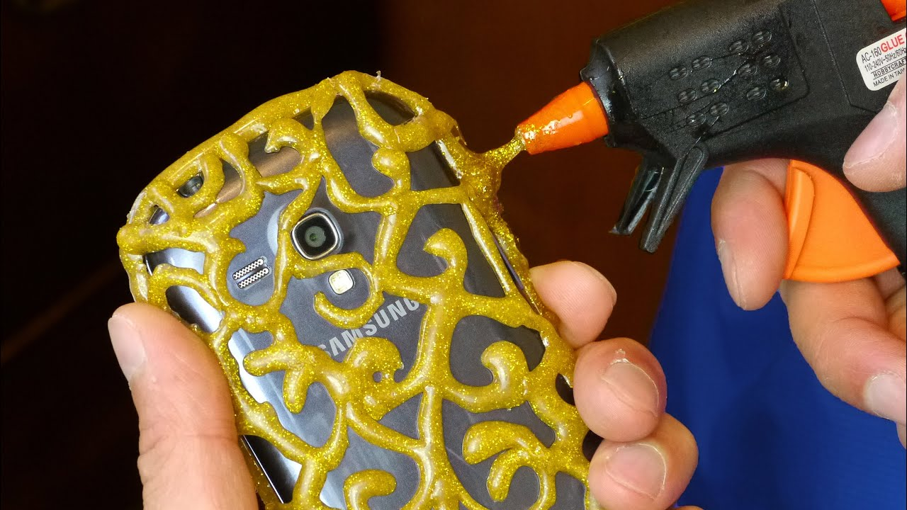 Diy Phone Case Life Hacks Hot Glue Craft Youtube