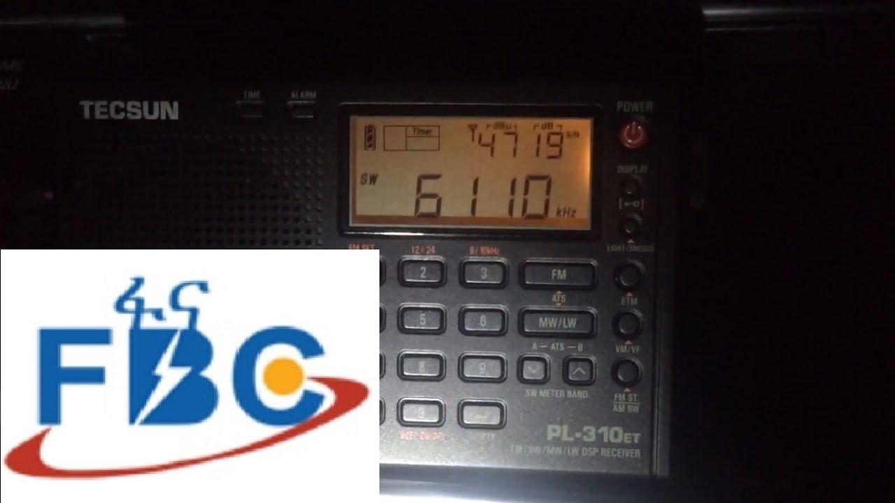Tecsun PL-310ET first test: Radio Fana 6110 kHz, Addis Ababa, Ethiopia