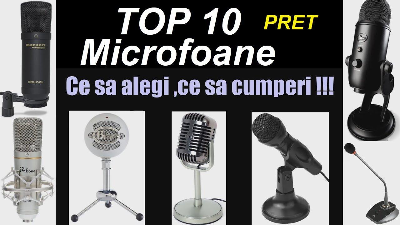 Top 10 Pret ,Microfoane -Ce sa Alegi si ce sa Cumperi -Intre 30 si 800 de lei.