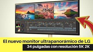 El nuevo monitor ultrapanorámico de LG presume 34 pulgadas con resolución 5K 2K