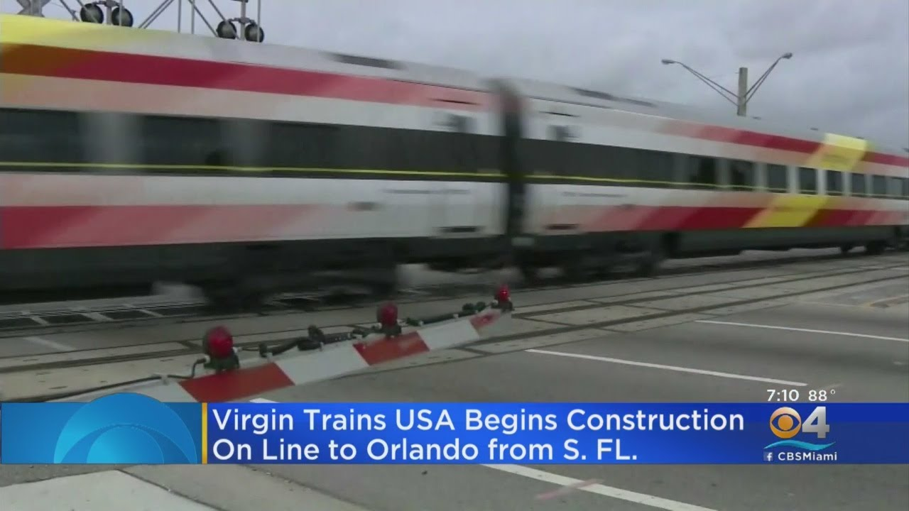 South Florida To Orlando Virgin Train In the Works - YouTube