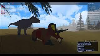 Triceratops vs Tarbosaurus Era of terror roblox