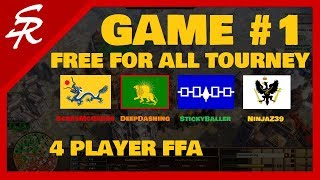 Free For All Tourney! | Game #1 | Age of Empires III
