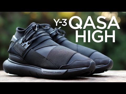 el propósito Incomodidad Intercambiar  Closer Look: Y-3 Qasa High - Triple Black 2 - YouTube