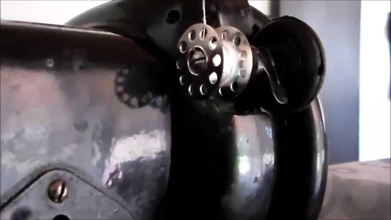 Como poner bobina a una maquina de coser singer viejita