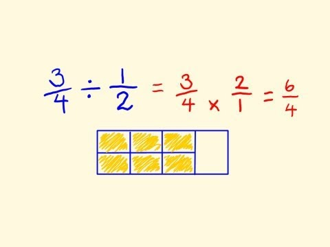 Fractions Division - fast math lesson