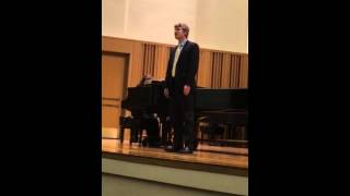 "Nathan Straub sings ""Ecco ridente in cielo"" by Rossini"
