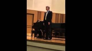 "Nathan Straub sings ""Ecco ridente in cielo"" by Rossini"