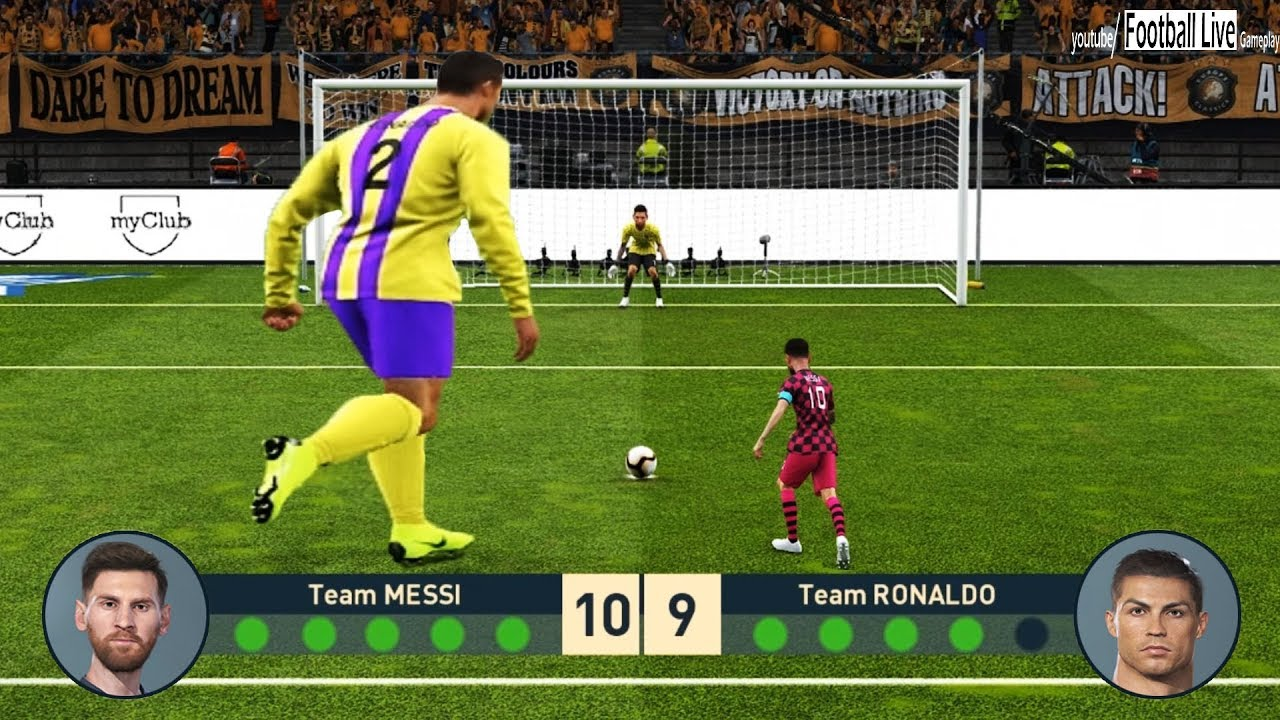 PES 2019 | Tiny Team L MESSI vs Giant Team C RONALDO | Penalty Shootout |  Gameplay PC