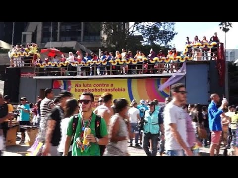 Thousands Turn Out For Sao Paulo Gay Pride