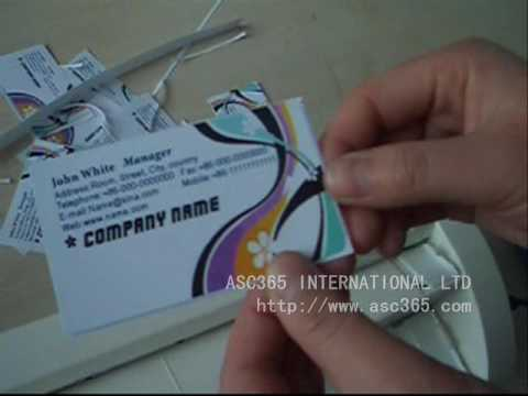 Business card making and business card cutter using methodwmv youtube business card making and business card cutter using methodwmv reheart Choice Image