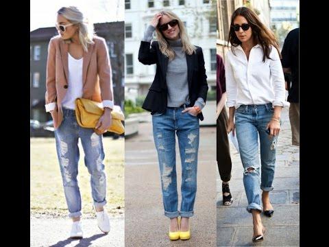 Женские Рваные ДЖИНСЫ - 2017 / Womens ripped jeans / Frauen zerrissene Jeans