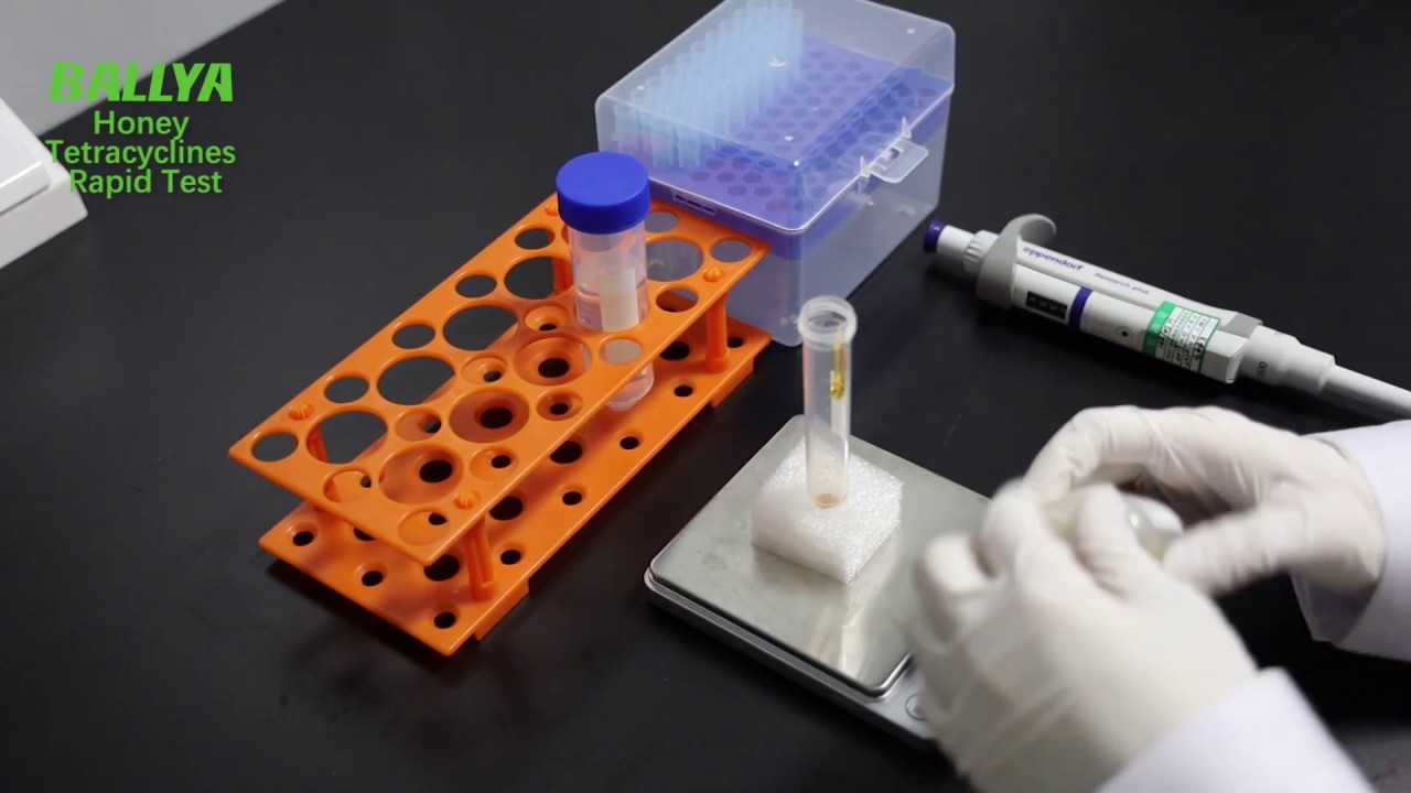 Tetracycline honey antibiotics test cassette tetracycline