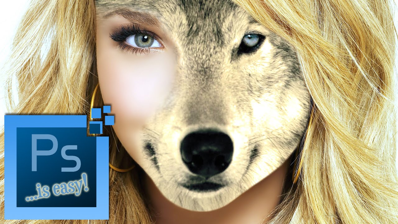 Half Human Half Wolf Male Photoshop CC Tu...
