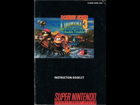 donkey kong country 3 dixie kong s dt game manual snes rh youtube com game manuals archive game manuals archive