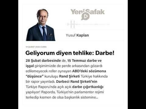 Yusuf Kaplan - Geliyorum diyen tehlike: Darbe! - 14.02.2020