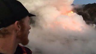 Exploding Lava At Hawaii Ocean Entry (Jan. 2, 2017)