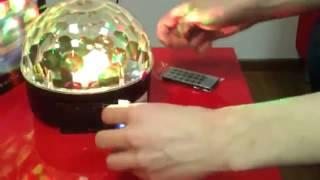 Світло-музика - Диско куля з MP3 плеєром LED Ball Light