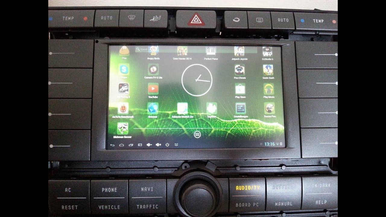 VW Phaeton Android Navigotion GPS Mini PC Touchscreen Internet VideoAPPs HDMI Rckfahrkamera