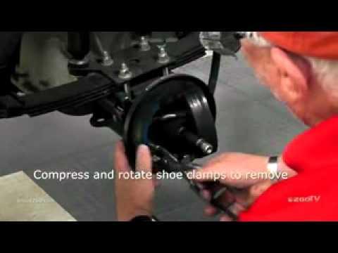 E-Z-GO Brake Shoe Installation - YouTube