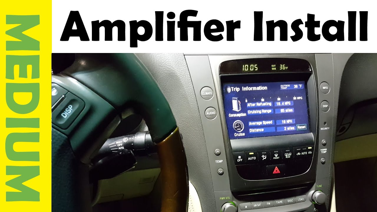 How To Install Amplifier Subwoofer In Any Car Simple Youtube Naza V2 Wiring Diagram