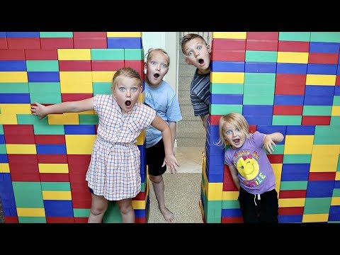 GIANT LEGO FORT Escape Room! All Videos In One