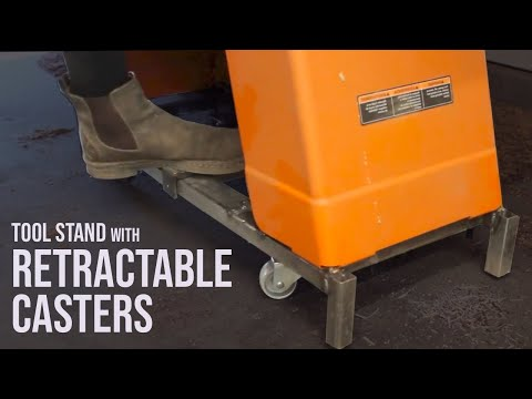 Tool Stand with Retractable Casters // Metalworking & Welding DIY