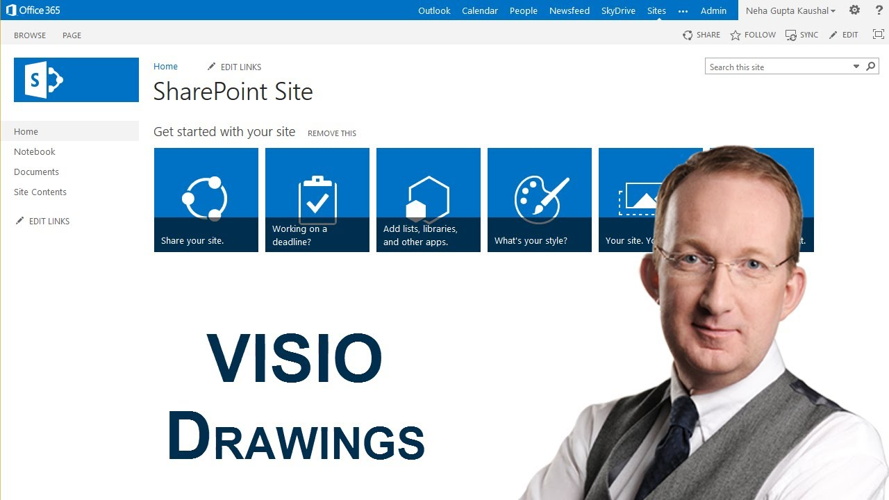 Visio drawings in sharepoint youtube for Sharepoint 2013 document library template